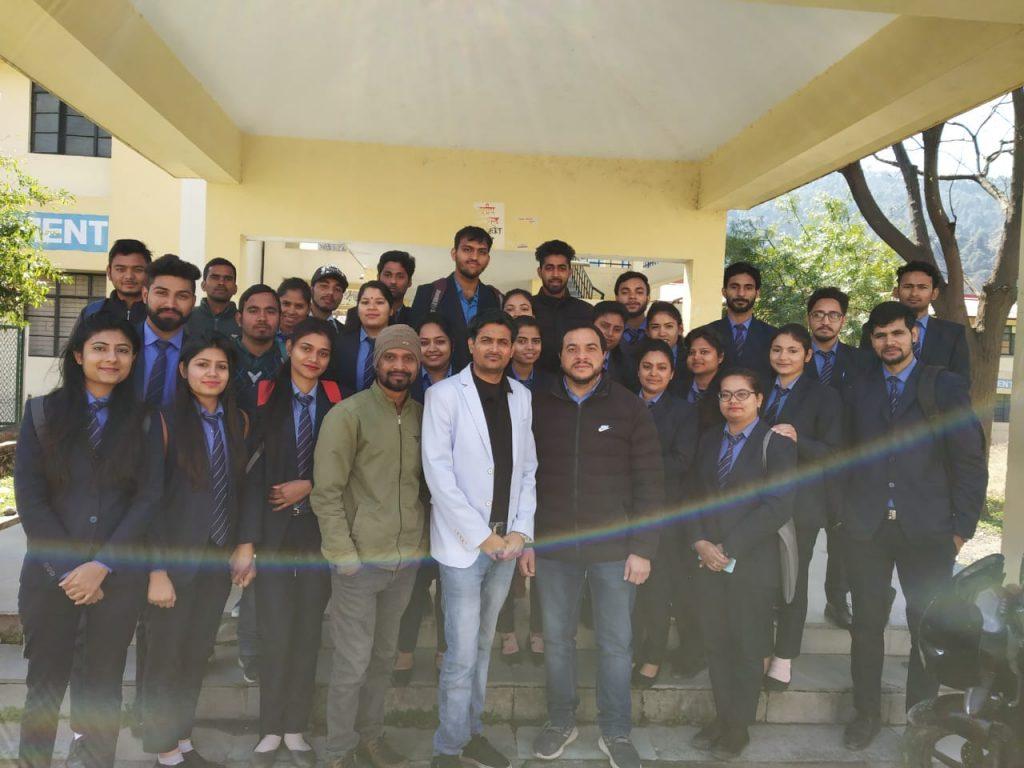 With MBA students at Garhwal University, Uttarakhand